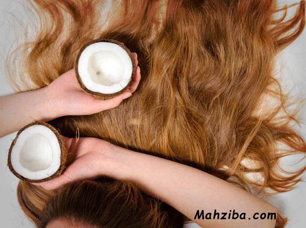 استفاده از روغن نارگیل برای تقویت مو و جلوگیری از ریزش مو