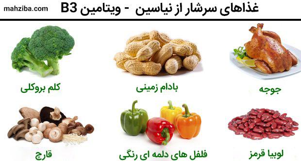 غذاها یا میوه های سرشار از نیاسین برای تقویت رشد مژه