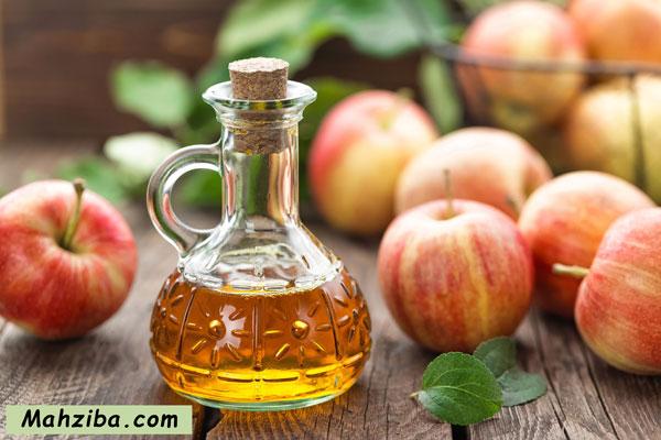 سرکه سیب برای درمان لک صورت در خانه