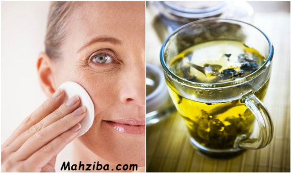 عصاره چای سبز برای درمان لک های پوستی