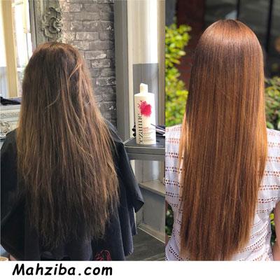 کراتینه موهای رنگ شده
