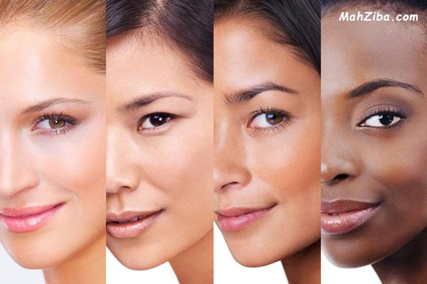 چطور لک صورت را درمان کنیم ؟