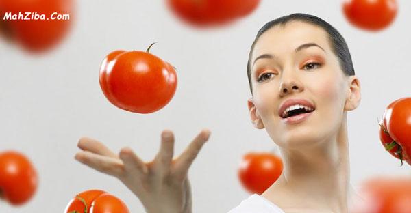 گوجه فرنگی برای درمان تیرگی های اطراف چشم و پوست